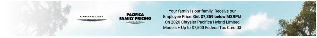Chrysler Pacifica Offer Sept 2020