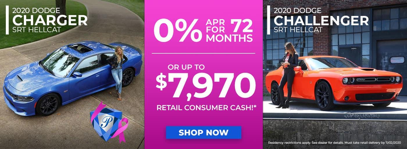 2020 Dodge Charger & Challenger October 2020 Specials in Inverness FL
