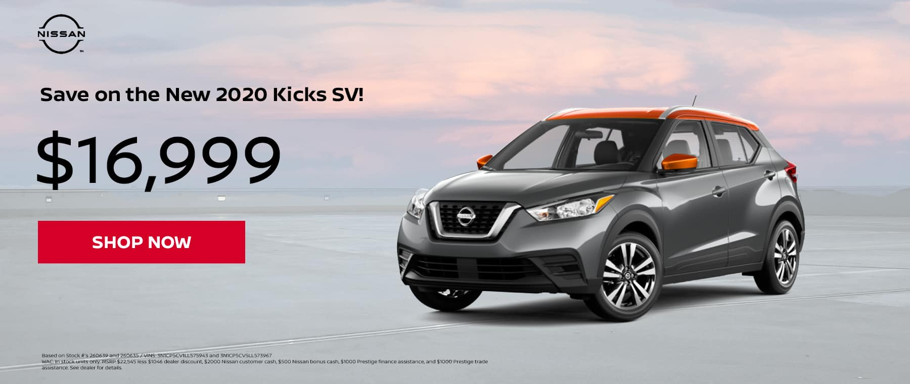 New 2020 Kicks SV!