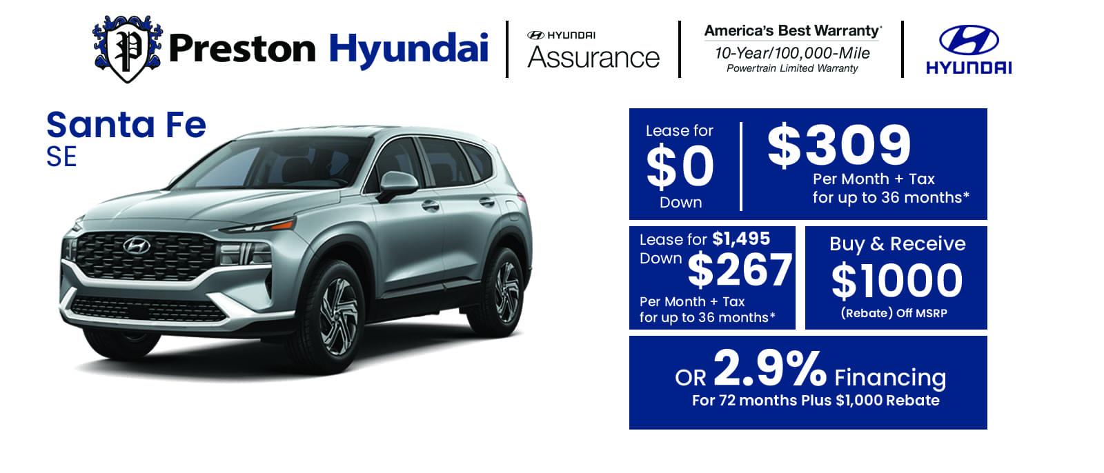 Hyundai Banner Santa Fe jul