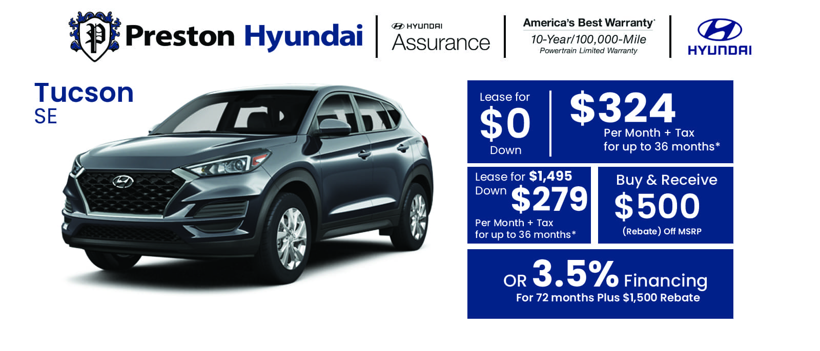 Hyundai Banner Tucson jul