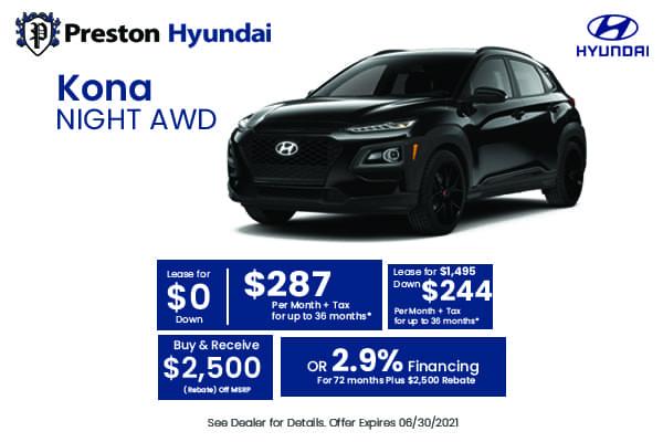 2021 Hyundai Kona Night AWD