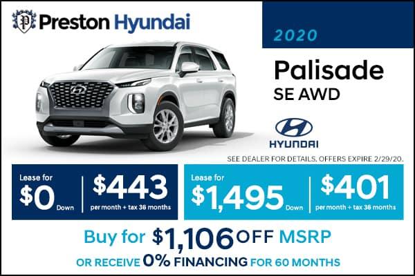 2020 Hyundai Palisade SE AWD