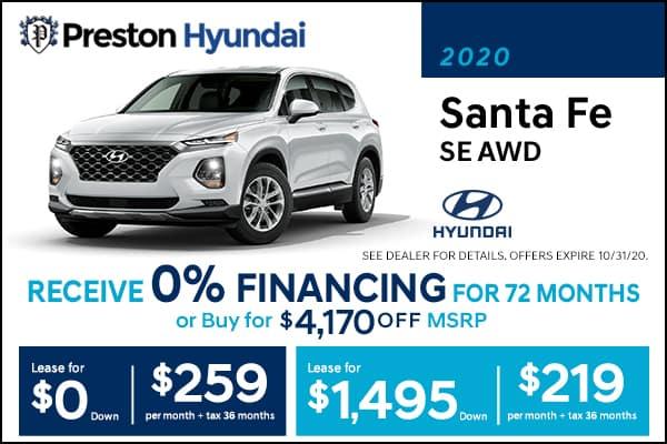 2020 Hyundai Santa Fe SE AWD