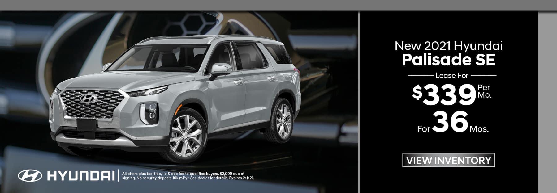 New 2021 Hyundai Palisade