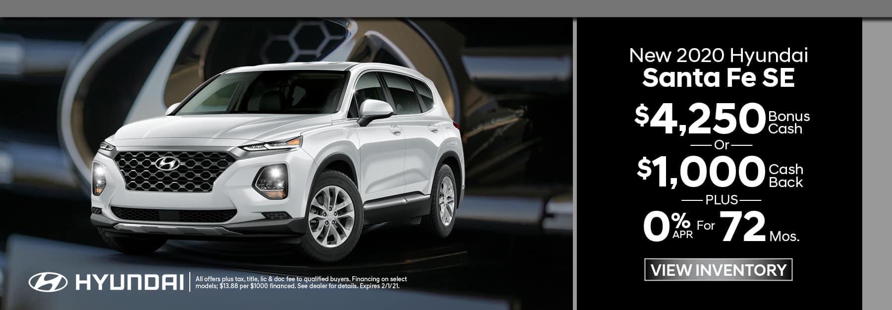 New 2020 Hyundai Santa Fe
