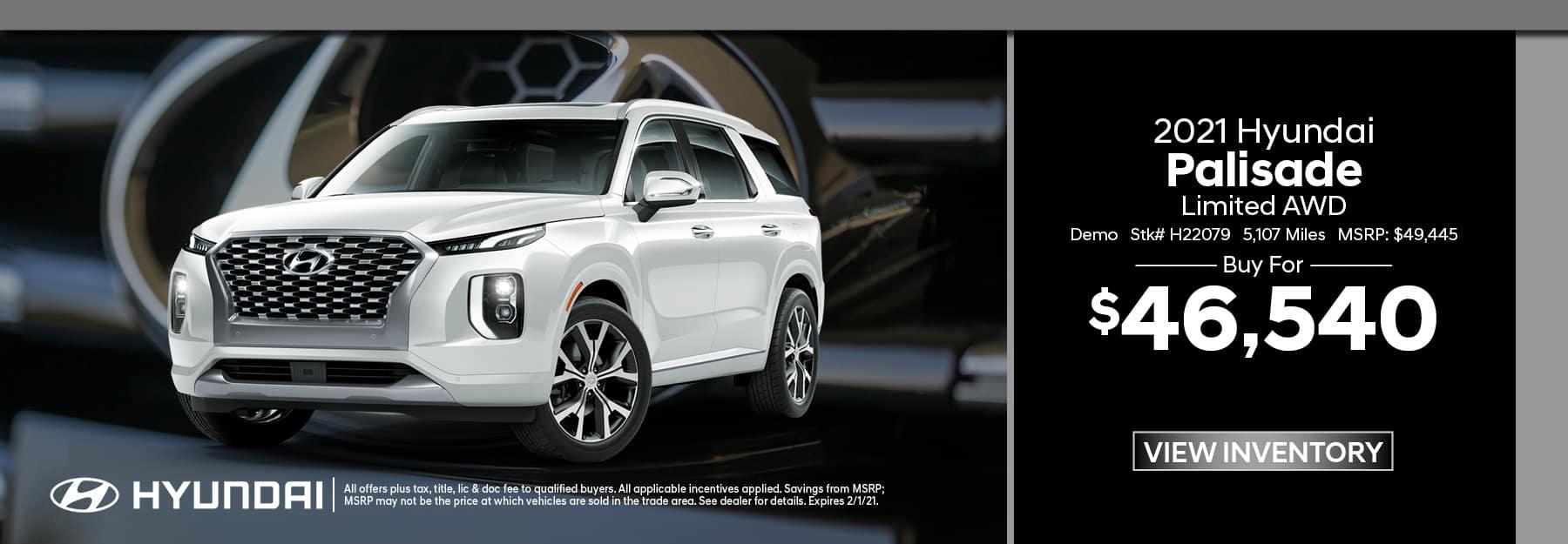 2021 Hyundai Palisade Demo