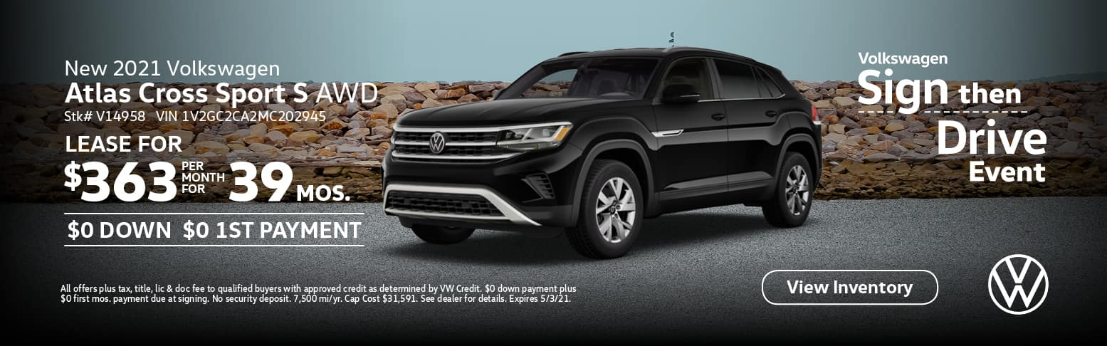 New 2021 Volkswagen Atlas Cross Sport