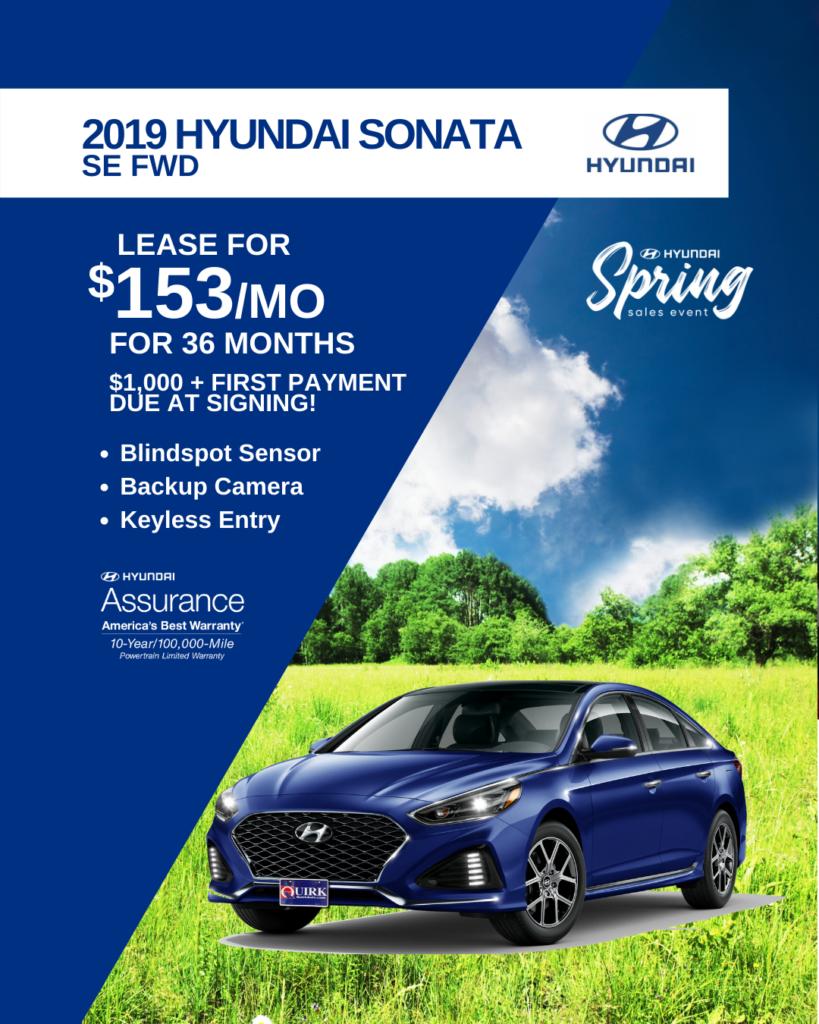 New 2019 Hyundai Sonata SE FWD 4dr Car