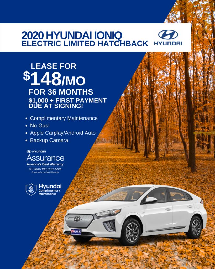 New 2020 Hyundai Ioniq Electric Limited FWD Hatchback