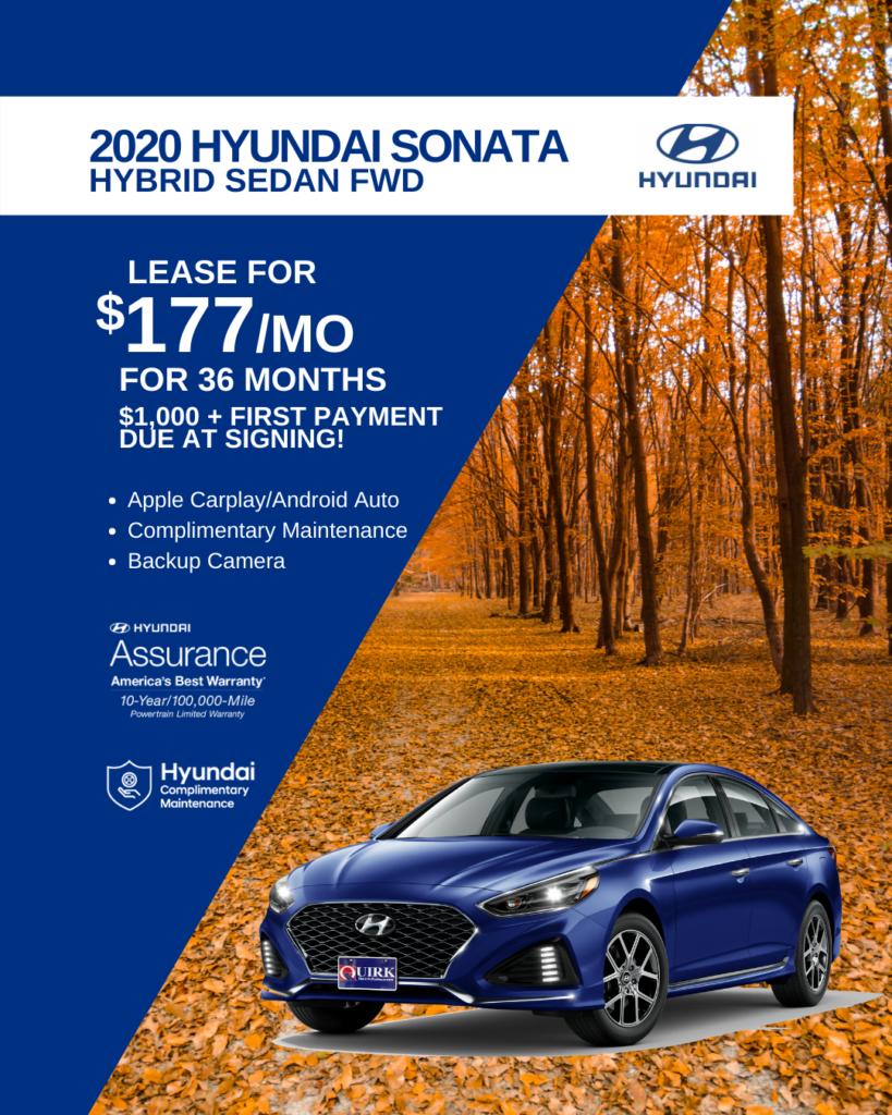 New 2020 Hyundai Sonata Hybrid Blue FWD 4dr Car