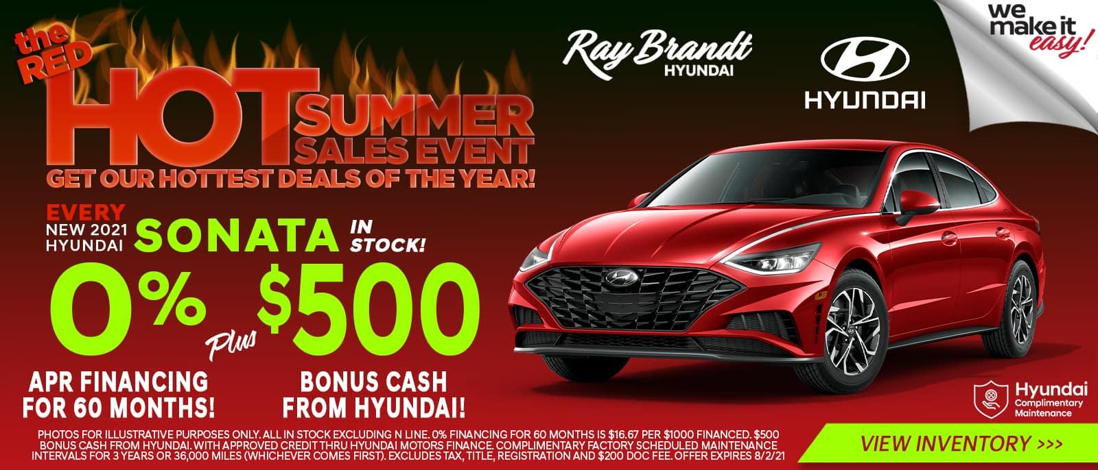 New 2021 Hyundai Sonata Sales Special