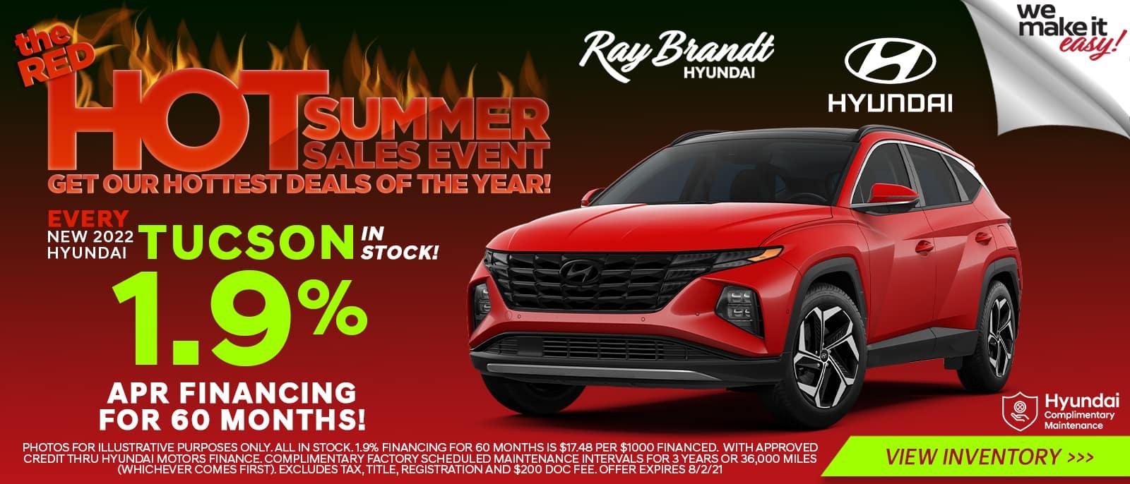 New 2022 Hyundai Tucson in Stock