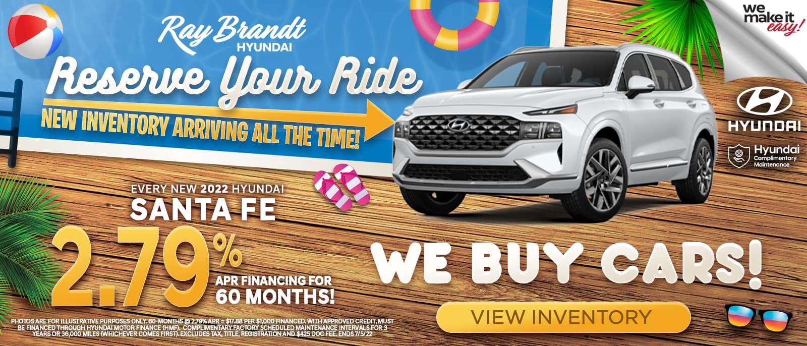 Hyundai SantaFe for sale, specials, savings, buy today