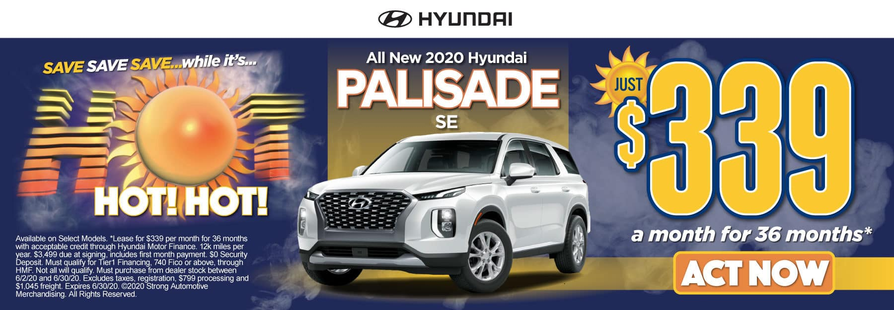 All New 2020 Hyundai Palisade - Just $339 a month for 36 months - Click to View Inventory