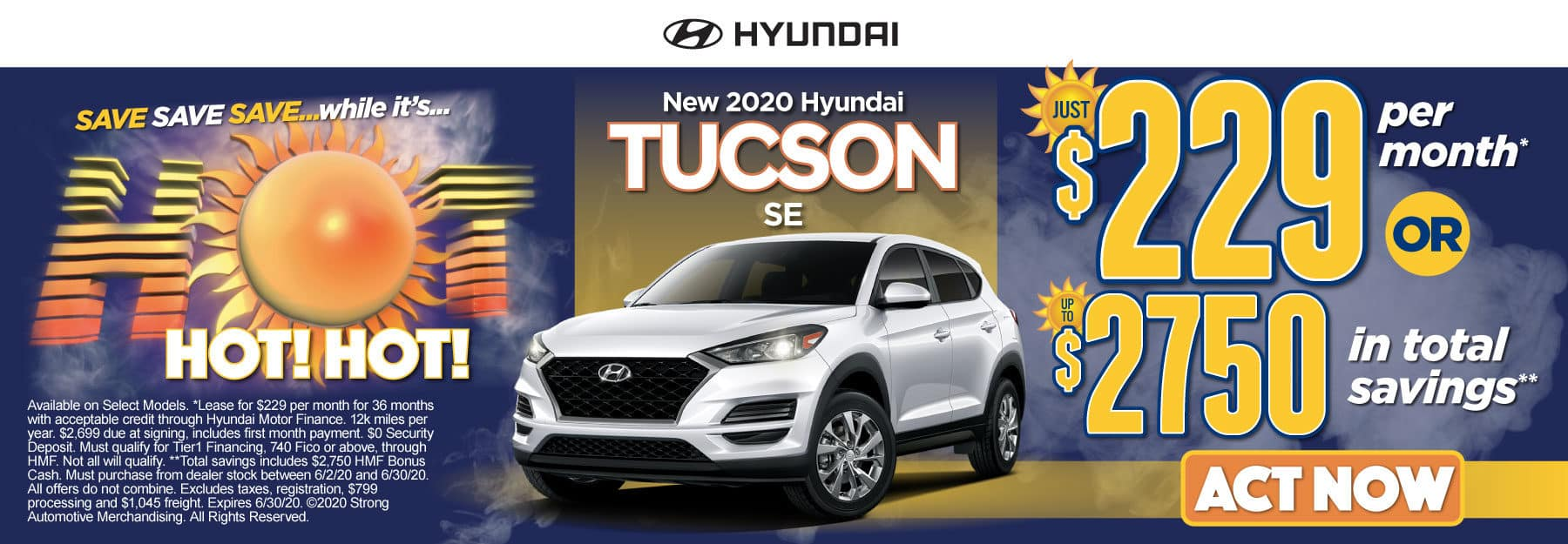 New 2020 Hyundai Tucson - Just $229 per month or up to $2750 in total savings - Click to View Inventory