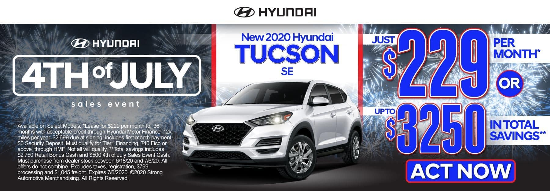 New 2020 Hyundai Tucson - Just $229 per month or up to $3250 in total savings - Click to View Inventory