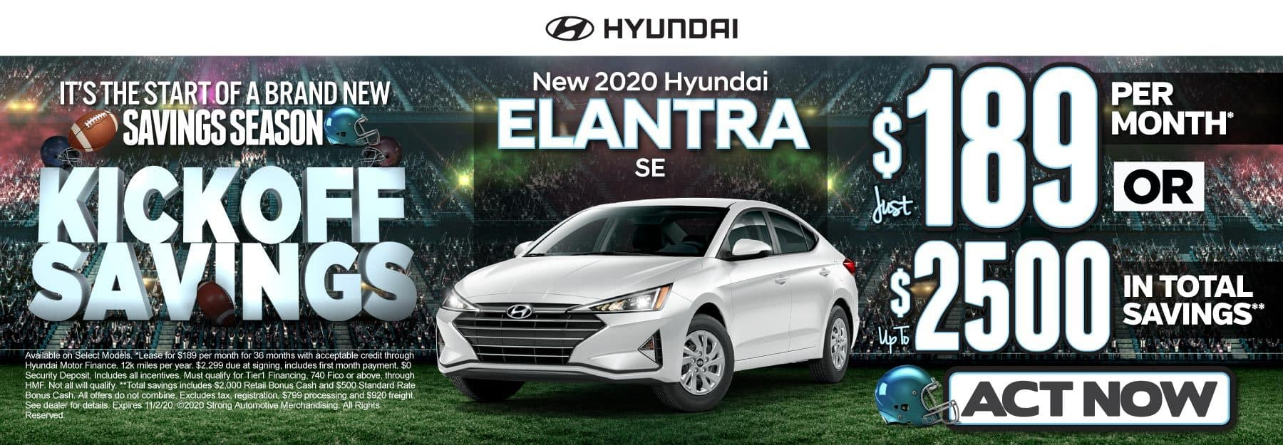 New 2020 Hyundai Elantra | Just $189 per month | Click to View Inventory