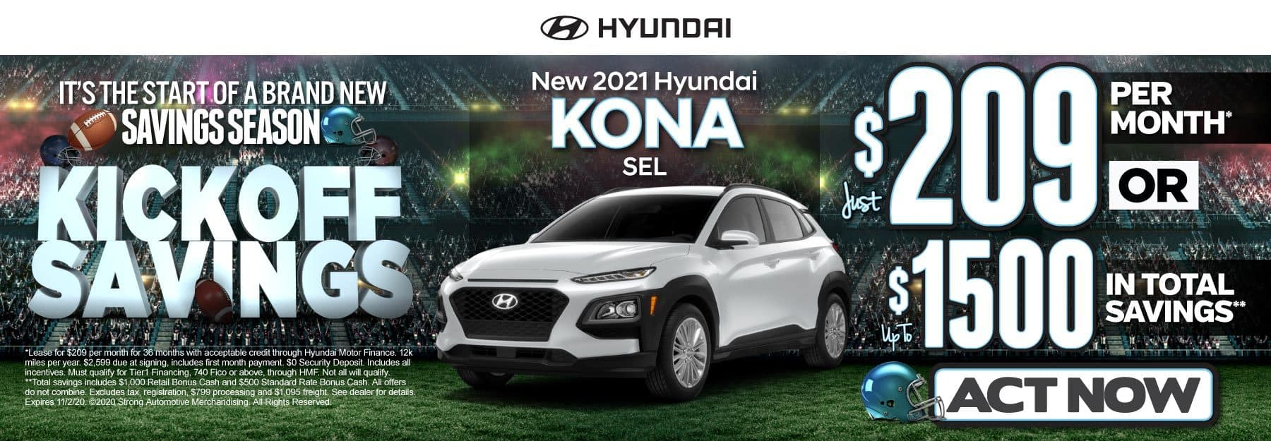 New 2021 Hyundai Kona | Just $209 per month | Click to View Inventory
