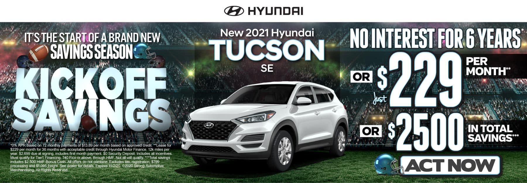 New 2021 Hyundai Tucson | No Interest for 6 Years or just $229 per month | Click to View Inventory
