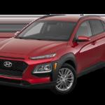 Red 2018 Hyundai Kona