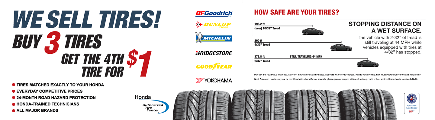 We sell tires banner