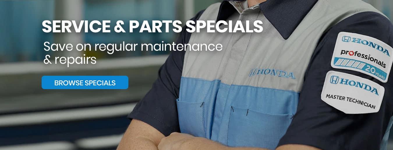 Service & Parts Specials Slide
