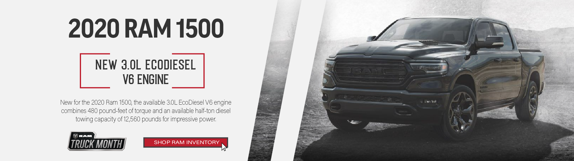 Black 2020 RAM 1500 truck ad
