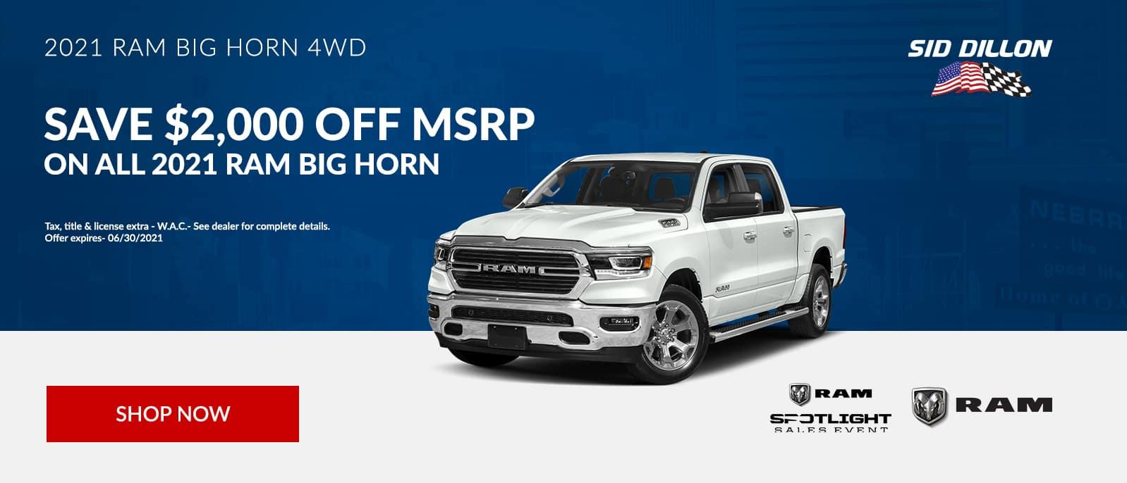 2021 RAM Big Horn