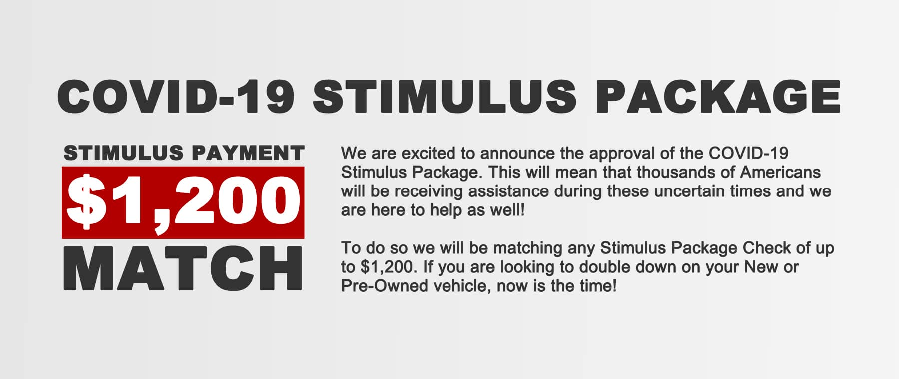 Somersworth Nissan Stimulus Match V3