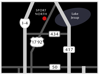 Map showing location of Sport Mazda North
