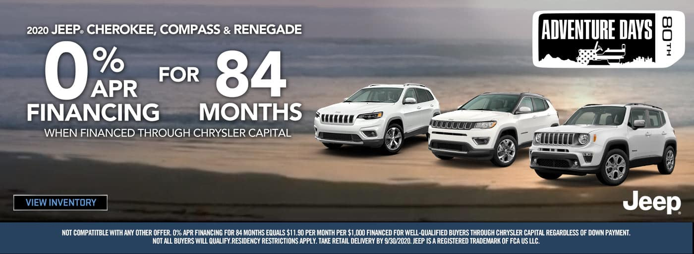 Jeep Models 0% for 84