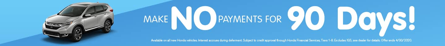 No payments for 90 days-April offer