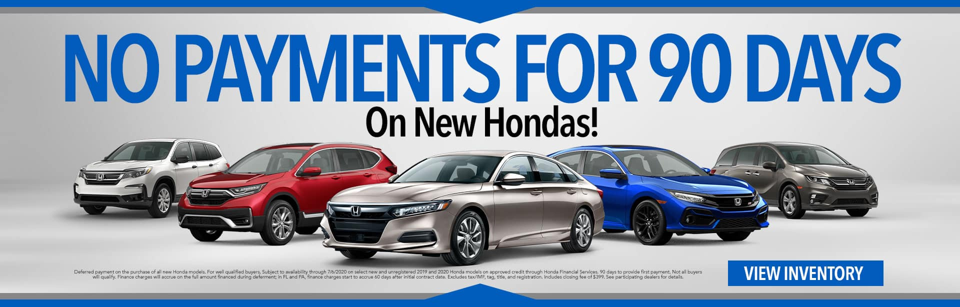 No Payments for 90 Days at Stokes Honda Cars of Beaufort