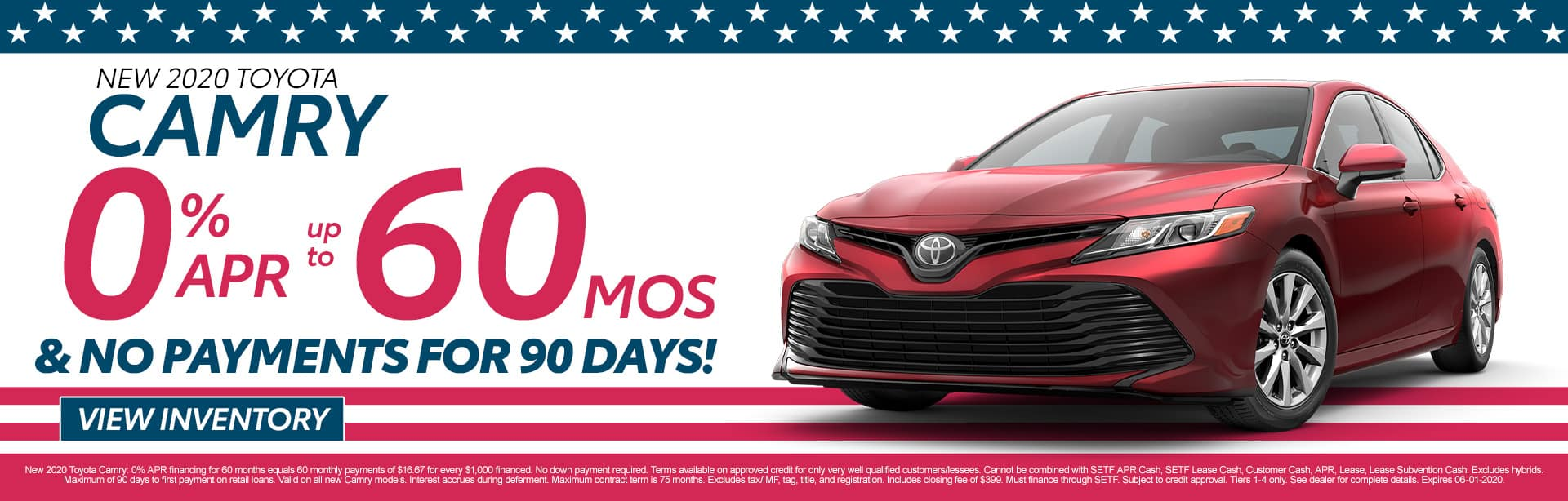 2020 Toyota Camry | 0% APR for 60 Months