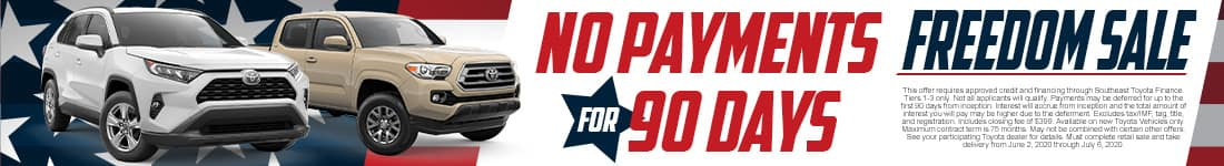 No Payments for 90 Days | Stokes Toyota of Beaufort
