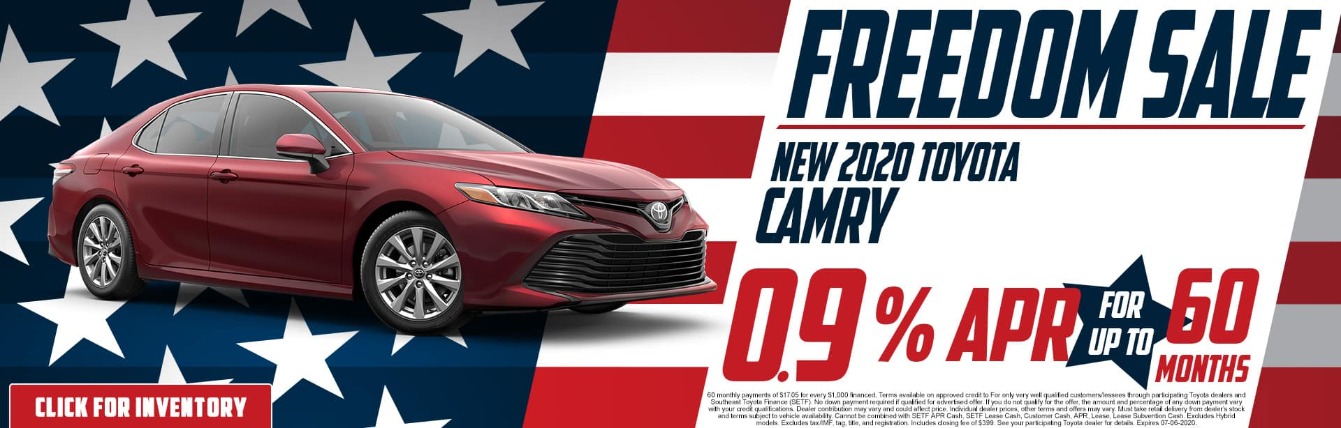2020 Toyota Camry | 0.9% APR for 60 Months