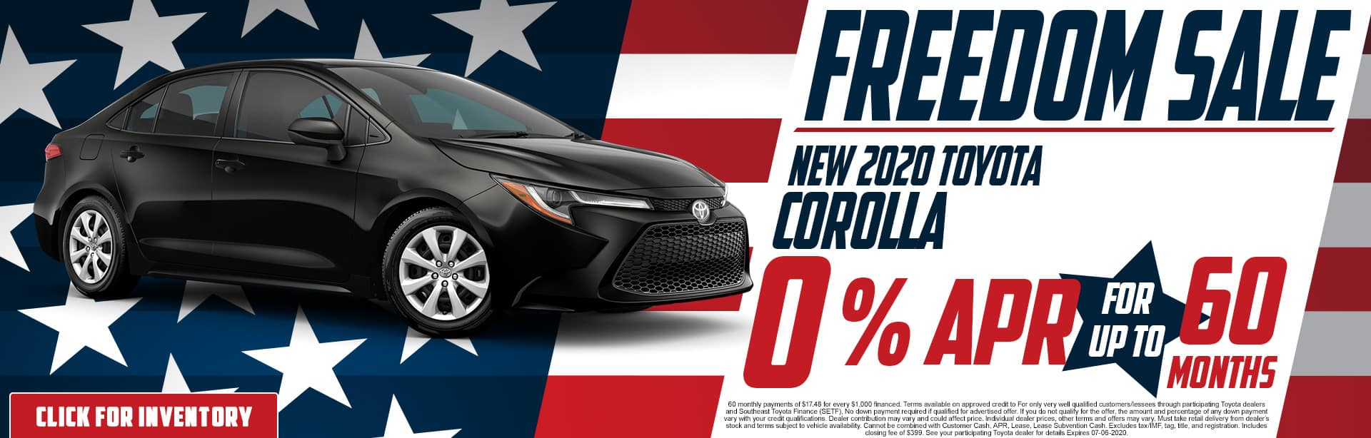 2020 Toyota Corolla | 0% APR for 60 Months