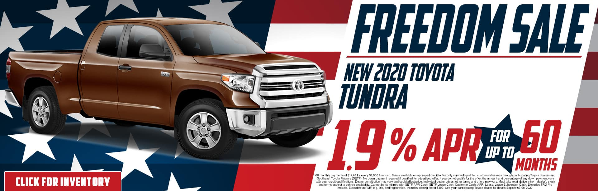 2020 Toyota Tundra | 1.9% APR for 60 Months