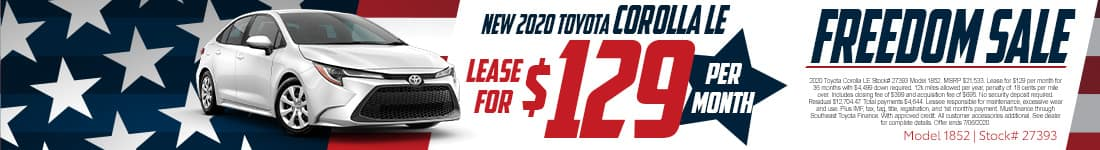 2020 Corolla June offer