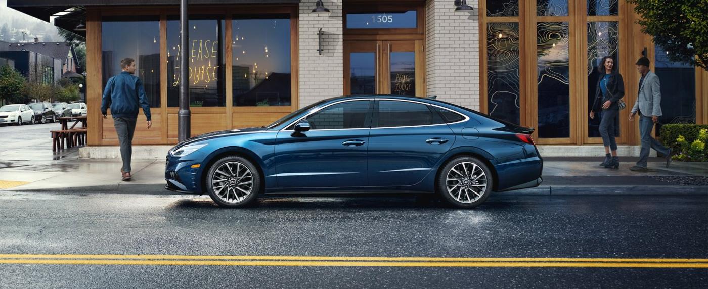 Blue Hyundai Sonata