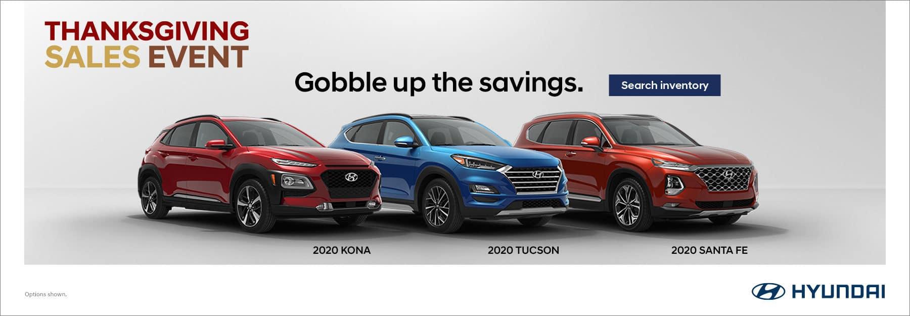 Hyundai Savings banner with 3 new models