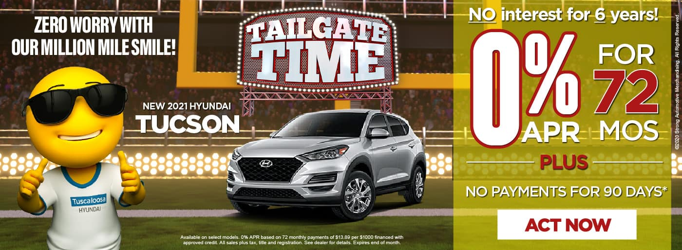 2020 Tucson 0% APR for 72 months - click here to view inventory