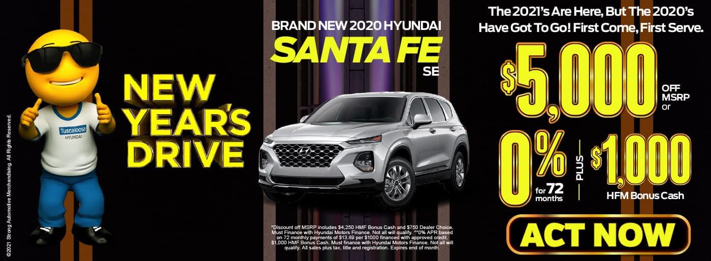 2020 Hyundai Santa Fe $5,000 off MSRP | View inventory