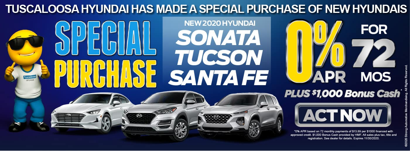 New 2020 Hyundai Sonata Tucson Santa Fe 0% APR for 72 months - click here to act now