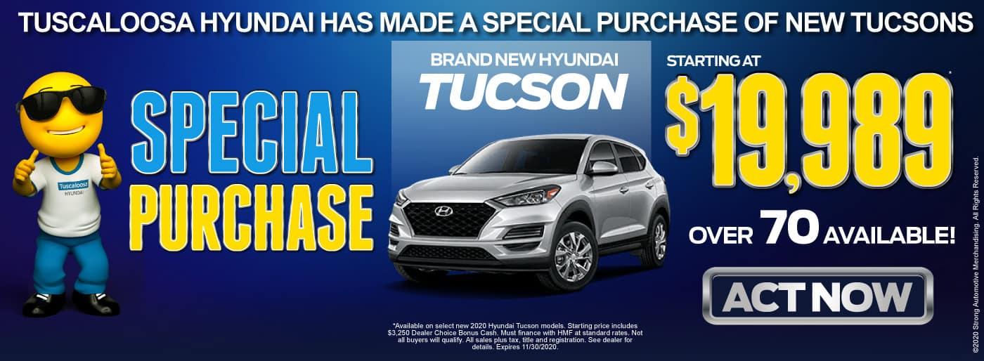 Brand New Hyundai Tucson - Starting at $19,989 - Act Now