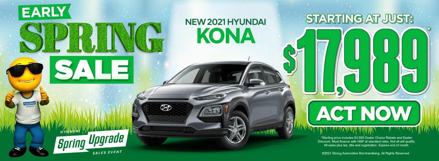 New 2021 Hyundai Kona - Starting at just $17,989 - Act Now