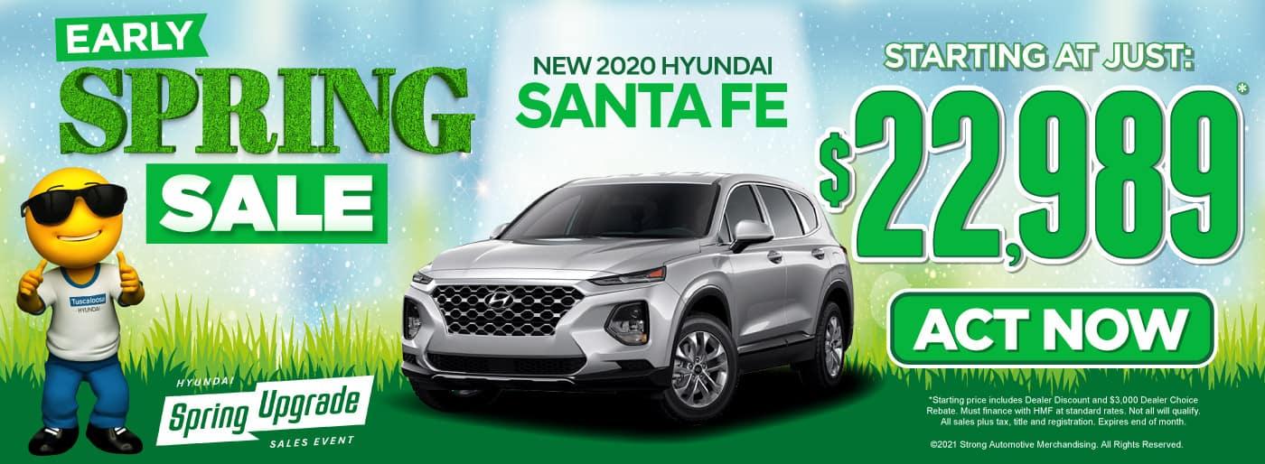 New 2020 Hyundai Santa Fe - Starting at just $22,989 - Act Now