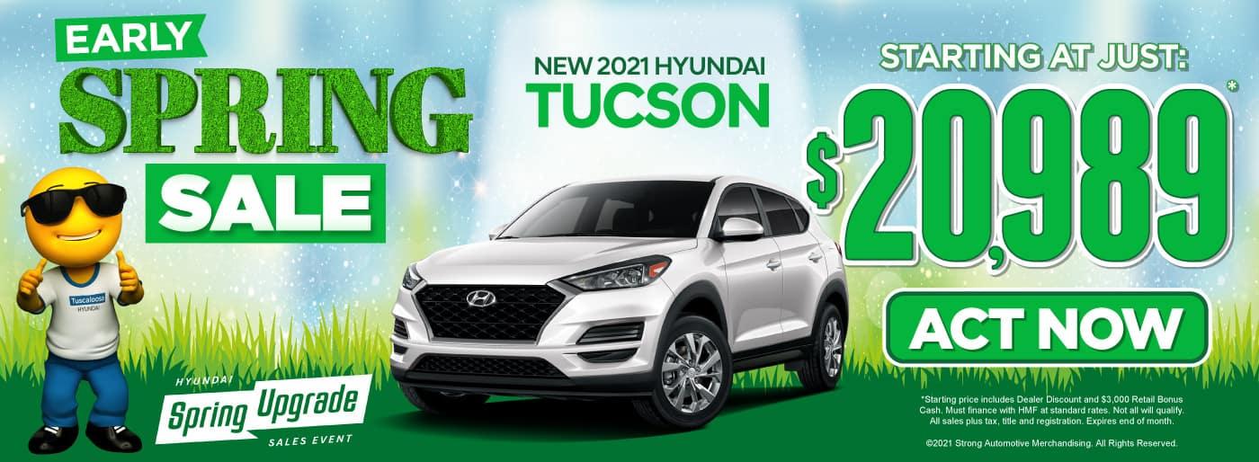 New 2021 Hyundai Tucson - Starting at just $20,989 - Act Now