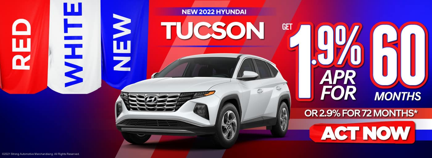 New 2022 Hyundai Tucson - 1.9% APR for 60 Months OR 2.9% APR for 72 Months - ACT NOW